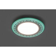Встраиваемый светильник с зелёной LED подсветкой Feron AL2440 16W 1280Lm 4000К (арт. 29597)
