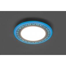 Встраиваемый светильник с синей LED подсветкой Feron AL2440 16W 1280Lm 4000К (арт. 29598)
