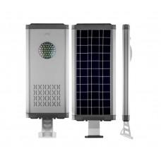 Консольный светильник на солнечной батарее Feron SP2335 16LED 12w + 4w 6000К алюминий, с датчиком движения IP65 32029