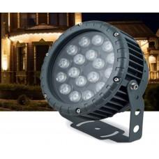 Прожектор светодиодный круглый Feron LL-884 D180xH230мм, IP65 18W, RGB (арт. 32145)