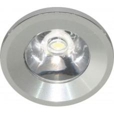 Мебельный светильник Feron G770 1 LED 1 W серебро 6400К 27667
