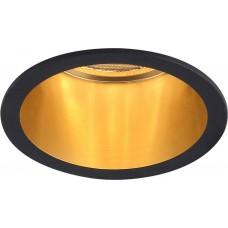 Светильник встраиваемый Feron DL6003 потолочный MR16 G5.3 черный+золото (арт. 29731)