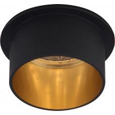 Светильник встраиваемый Feron DL6005 потолочный MR16 G5.3 черный+золото (арт. 29733)