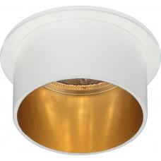 Светильник встраиваемый Feron DL6005 потолочный MR16 G5.3 белый+золото (арт. 29734)