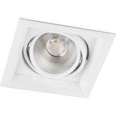 Светодиодный светильник Feron AL201 карданный 1x12W 4000K 35 градусов ,белый (арт. 29773)
