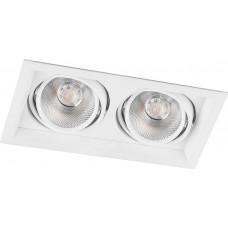 Светодиодный светильник Feron AL202 карданный 2x12W 4000K 35 градусов ,белый (арт. 29774)