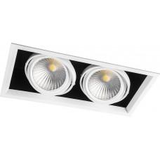 Светодиодный светильник Feron AL212 карданный 2x30W 4000K 35 градусов ,белый (арт. 29780)
