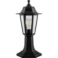 Светильник садово-парковый Feron НТУ 06-60-001 на постамент, 6-ти гранник 60W E27 230V, черный (арт. 32273)