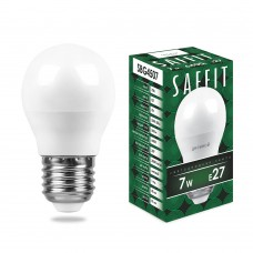 Лампа светодиодная Saffit SBG4507 Шарик E27 7W 6400K (арт. 55124)