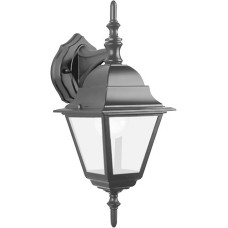 Светильник садово-парковый Feron 4102/PL4102 четырехгранный на стену вниз 60W E27 230V, черный