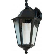 Светильник садово-парковый Feron 6202/PL6202  шестигранный на стену вниз 100W E27 230V, черный