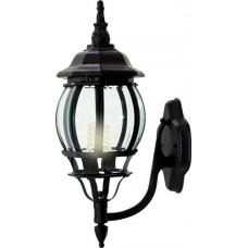 Светильник садово-парковый Feron 8101/PL8101 восьмигранный на стену вверх 100W E27 230V, черный