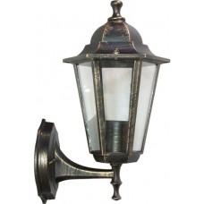 Светильник садово-парковый Feron 6101/PL6101 шестигранный на стену вверх 60W E27 230V, черное золото
