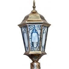 Светильник садово-парковый Feron PL162 шестигранный на столб 60W E27 230V, черное золото