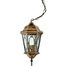 """Садово-парковый светильник """"Витраж"""" с овалом на стекле Feron PL164 Черное Золото"""