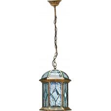 """Садово-парковый светильник """"Витраж"""" с прозрачным верхом Feron PL132 Черное Золото"""
