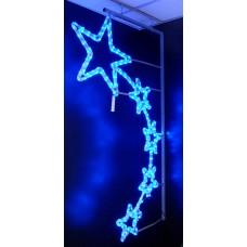 Световая фигура 5 ЗВЕЗД синий Flesi LED-FIVE-STAR MOTIF-B-LEFT 150х87см