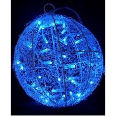 Световая объемная фигура подвесной ШАР синий  Flesi LED-PL-50L-3M-240V-B D25