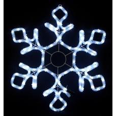 Световая мерцающая фигура СНЕЖИНКА белая Flesi LED-XM(FR)-2D-CK012-24''-W-F(W) 60,5х52см