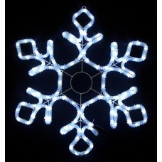 Световая мерцающая фигура СНЕЖИНКА белая Flesi LED-XM(FR)-2D-CK012-W-30'' 79х69см