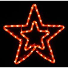 Световая мерцающая фигура ЗВЕЗДА красная Flesi LED-XM(FR)-2DCK020-R-F(R) 55х54см, c красными Flash LEDS