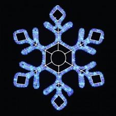 Световая мерцающая фигура СНЕЖИНКА синяя Flesi LED-XM(FR)-2D-CK022-B-24 60.5х52см