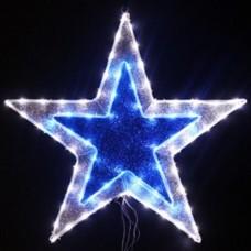 Световая фигура ЗВЕЗДА Flesi 61x61 см белый-синий
