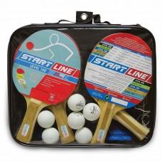 Набор теннисных ракеток Level 100 4шт, мячи club select 6шт, сетка с креплением 3951