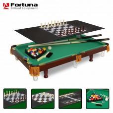 Бильярдный стол Fortuna пул 3фт 4 в 1 с комплектом аксессуаров 7736