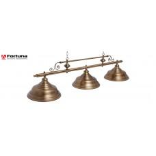 Светильник для бильярдного стола Fortuna Verona Bronze Antique 3 плафона 8821