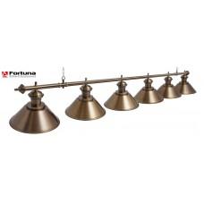 Светильник для бильярдного стола Fortuna Toscana Bronze Antique 6 плафонов 8826
