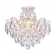 Хрустальная люстра Freya Chabrol FR2302CL-04S белое серебро