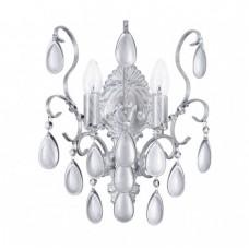 Хрустальное бра Freya Chabrol FR2302WL-02S белое серебро