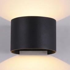 Уличный настенный светильник Maytoni Fulton O573WL-L6B черный 6 Вт 3000К