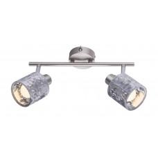 Спот Globo 54122-2 Alys матовый никель/серебро с выключателем