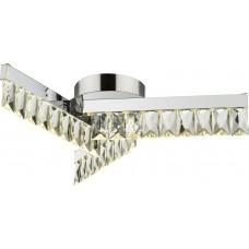 Потолочная светодиодная люстра Globo 49234-18 Jason хром/прозрачный LED 18W