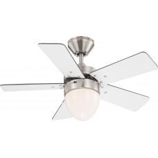 Люстра-вентилятор Globo MARVA 0332, матовый никель, E27, 1x60W с пультом