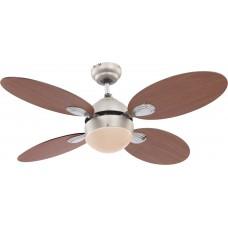 Люстра-вентилятор Globo WADE 0318, матовый никель, E14, 1x60W