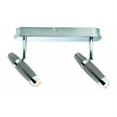60155 Светильник Channel LED 2х10W, Никель, крацеванный/Хром