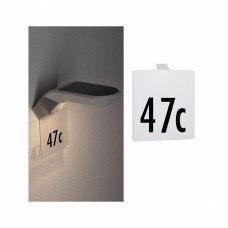 Панель с номером дома Paulmann Белый Пластик Для настенных уличных светильников серии Soley 94253
