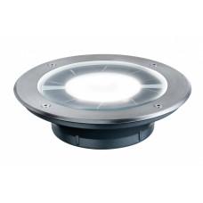 Уличный встраиваемый светильник Paulmann Pandora 0.36Вт LED 2700К IP67 Сталь Солн.батарея 93776