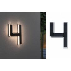 Уличный настенный светильник Paulmann Номер 4 LED 0.2Вт 3000К IP44 Пластик Солнечная батарея 79845