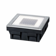 Светильник встраиваемый уличный Paulmann Cube 0.24Вт 3.6лм 2700К IP67 LED Сталь Солнич.батарея 93774
