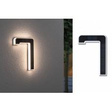 Уличный настенный светильник Paulmann Номер 7 LED 0.2Вт 3000К IP44 Пластик Солнечная батарея 79848