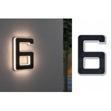 Уличный настенный светильник Paulmann Номер 6 LED 0.2Вт 3000К IP44 Пластик Солнечная батарея 79847