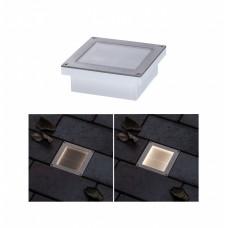Уличный встраиваемый светильник Paulmann Aron 0.7Вт LED 2700К IP67 100мм Сталь Солн.батарея ДД 94238