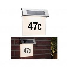 Уличный настенный светильник Paulmann 0,2Вт LED 3000К IP44 Белый Сталь Номер дома Солн.батарея 93765