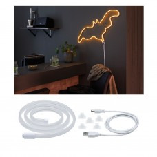 Лента светодиодная Paulmann Neon Colorflex 1м 4.5Вт 10лм 5В Оранжевый/Белый Пластик USB 70562