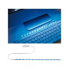 Лента светодиодная Paulmann 1.5Вт 5В Синий Металл/Пластик USB 30см 70456