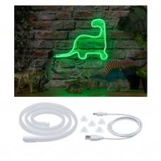 Лента светодиодная Paulmann Neon Colorflex 1м 4.5Вт 10лм 5В Зеленый/Белый Пластик USB 70563